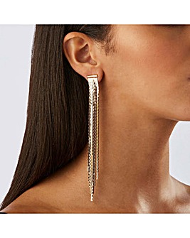 Lipsy Gold Plated Slinky Drop Earrings