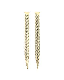 Lipsy Gold Plated Slinky Drop Earrings