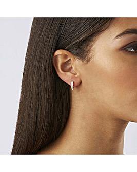 Lipsy Silver Plated Huggie Hoop Earrings