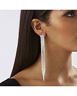 Lipsy Silver Plated Slinky Drop Earrings