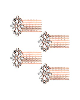 Jon Richard Multipack Rose Gold Combs