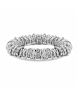 MOOD Interlinking Ring Stretch Bracelet