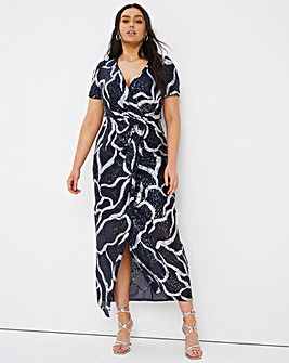 Joanna Hope Stretch Sequin Maxi Dress