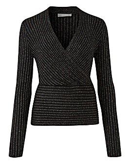 Oasis Curve Mila Rib Wrap Sparkle Knit
