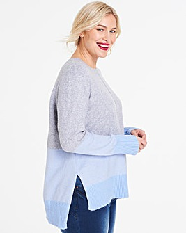 Oasis Curve Sally Colourblock Jumper