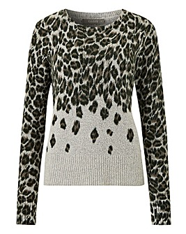 Oasis Curve Annie Animal Crew Jumper