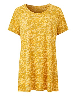 Ochre Burnout T Shirt