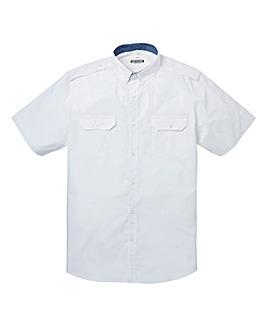 Jacamo Short Sleeve White Military Shirt