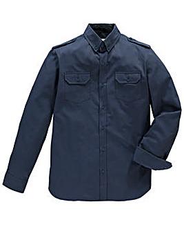 Jacamo Long Sleeve Navy Military Shirt