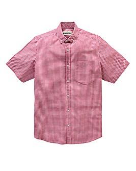Jacamo Pink Archer S/S Check Shirt R