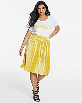 Junarose Pleat Velvet Skirt