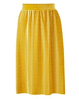 Junarose Pleat Velvet Skirt