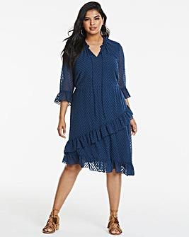 Junarose Asymmetric Frill Dress