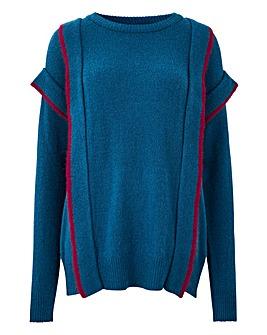 Junarose Frill Shoulder Pullover