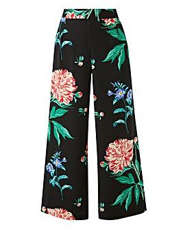 Junarose Dark Floral Wide Leg Pants