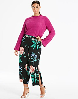 Junarose Dark Floral Wide Leg Pants