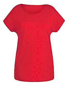 Watermelon Jersey Jacquard Top