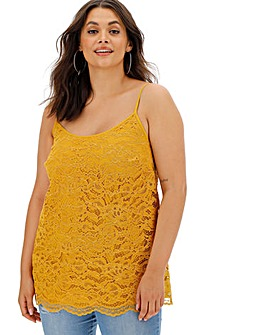 Ochre All Over Corded Lace Cami
