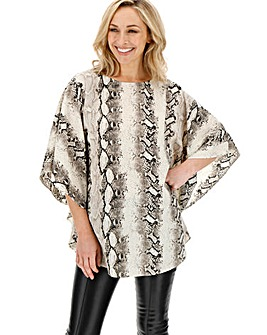 Snake Print Circular Unlined Top
