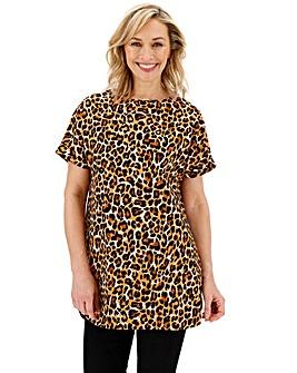 Leopard Print Woven Tunic