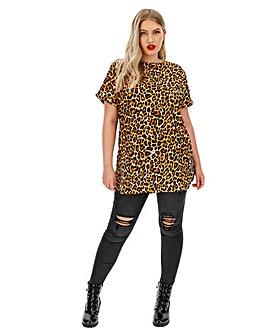Leopard Print Boxy Tunic
