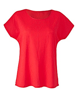 Bright Pink Jersey Jacquard Top