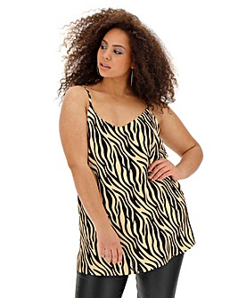Tiger Print Strappy Back Cami