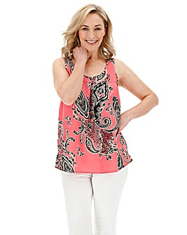Pink Floral Printed Vest