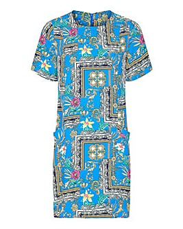 Yumi Curves Scarf Print Tunic Dress
