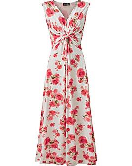 Grace Twist knot maxi dress