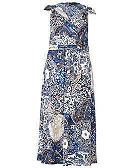Izabel London Curve Print Maxi Dress