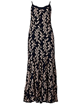 Izabel London Curve Printed Maxi Dress