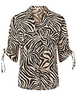 Monsoon Zadie Zebra Organic Cotton Shirt