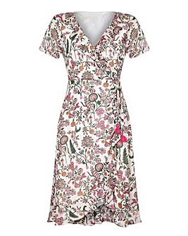 Yumi Curves Floral Print Wrap Dress