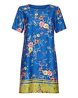 Yumi Curves Floral Print Tunic Dress