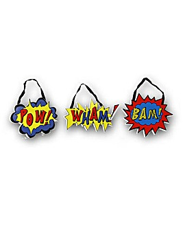 Superhero Pow Wham Bam Set of 3