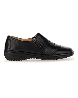 Soft Leather Side Zip Shoes E Fit