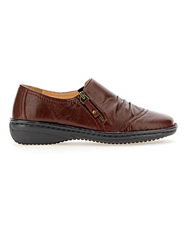 Soft Leather Side Zip Shoes EEE Fit