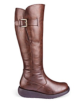 Casual High Leg Boots Wide E Fit Super Curvy Calf