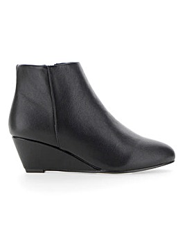 Wedge Ankle Boots Wide E Fit