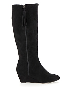 Soft Wedge Boots E Fit Standard Calf