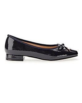 Flexible Sole Bow Slip On Shoes Extra Wide EEE Fit