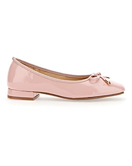Flexible Sole Slip On Bow Shoes E Fit