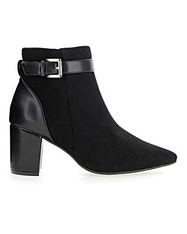 Cord Detail Ankle Boots EEE Fit