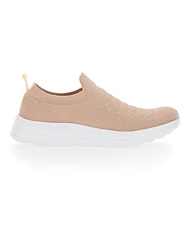 Knitted Slip On Leisure Shoes EEE Fit