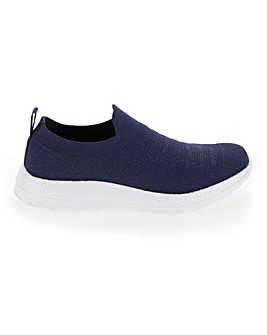 Knitted Slip On Leisure Shoes Wide E Fit