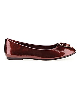 Trim Ballerina Shoes Extra Wide EEE Fit