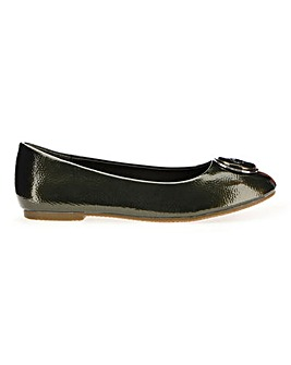 Trim Ballerina Shoes Wide E Fit