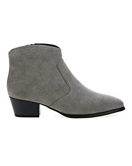 Western Ankle Boots Wide E Fit