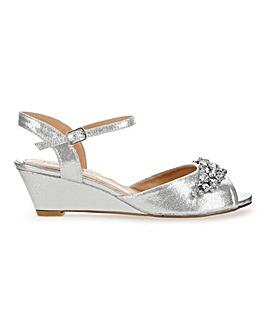 Trim Detail Wedge Sandals E Fit